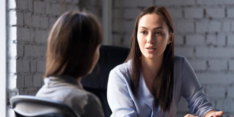 career panning conversation between women